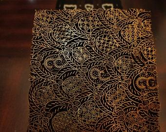 Indonesian Copper Batik Tjap