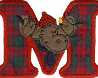 3 1/4'' by 4 1/2'' Iron On Moose Christmas Ugly Sweater Applique w/ Free Shipping