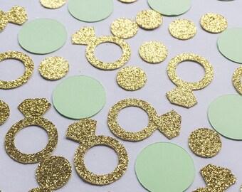 Diamond Ring Confetti • Bridal Shower Confetti • Bachelorette Decor • Engagement Confetti • Wedding Decor