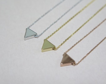 Thank you SALE / Tiny triangle necklace / triangle layered necklace / dainty triangle necklace  / Minimalist  jewelry/ Layered Necklace