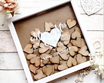 Wedding Dropbox frame, Guestbook Dropbox frame, Rustic wedding guestbook , Country wedding ,