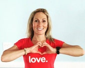Love. - Ladies yoga wear  tri-blend V-neck Tee