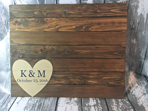 Guest Book Sign - Rustic Wedding Guest Book - Rustic Guest Book - Guest Book Alternate - Country Wedding Guest Book - Wedding Sign