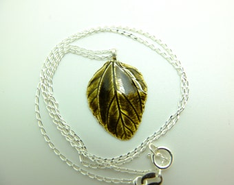 Enameled fine silver pendant on sterling silver chain