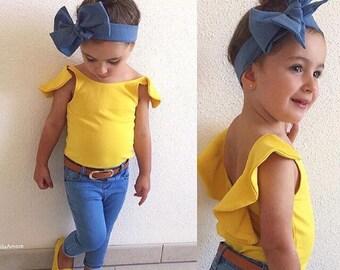 TIED, Denim Blue, Baby Headband, Toddler Headwrap, Big Bow Headwrap, Bows, Headband , Turban Headwrap, Infant Headwrap, Baby Girl, Summer