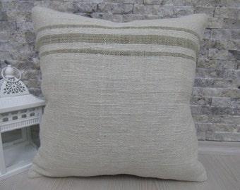 16 x 16 Turkish Home Decor Divan Pillow Cover Old Kilim Pillow Cover Decorative Pillow Cover Asian Pillow