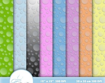 Raindrop Scrapbook Paper, Digital paper Raindrop, Printable Raindrops Background, Raindrop Paper Pack, Raindrop Paper, Digital Download