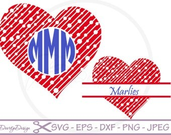"""Shop """"heart monogram svg"""" in Patterns & Tutorials"""