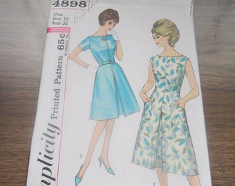 SIX Simplicity 1950's Vintage Sewing Patterns Size 16 Bust 36