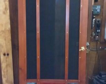 Custom Stained Glass & Wood Door