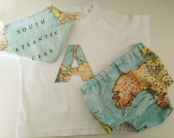Pack diaper cover, T-shirt and bandana