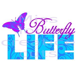 Butterfly LIFE    fibromyalgia  SVG Cut file  Cricut explore filescrapbook vinyl decal wood sign cricut cameo Commercial use