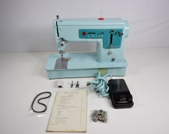 Vintage Sewing Machine, Singer Model 347, Excellent Working Condition