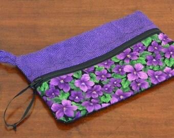 Purple Violet mini Zipper bag, Clutch