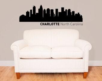 Charlotte City Skyline Vinyl Decal