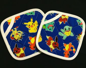 Pokemon Pot Holders - set of two