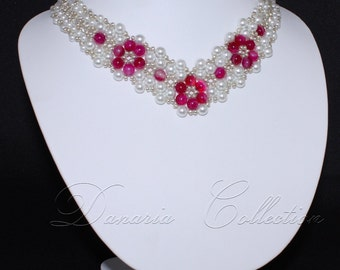 Pink beauty necklace