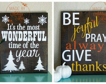 Reversible Holiday Sign