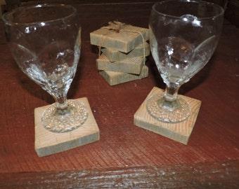 Reclaimed Barn Beam Coasters Set of 4