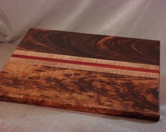 Tigerwood/Padauk/Ambrosia Maple Cutting Board