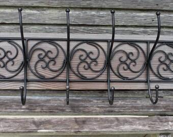 coat rack, CYPRESS wooden coat rack, rustic coat rack, wall decor, metal coat rack, coat stand, coat hangers, reclaimed wood, towel rack