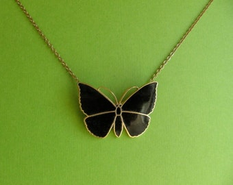 Butterfly Necklace Mid Century Modern