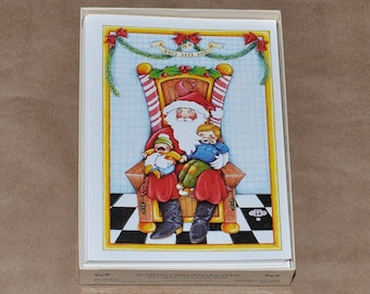 12 Vintage Mary Engelbreit Unused Christmas Cards with Envelops, circa 1980s