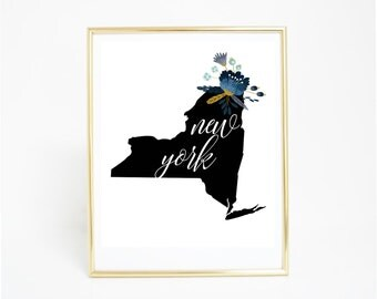 Printable Art, New York - State Print