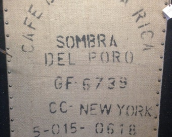Imported Coffee Sack Wall Decor