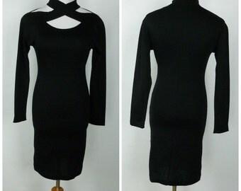 Vintage 80s Blake Adams Form Fitting and Flattering 'Little Black Dress' | Size S