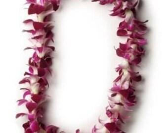 Single orchid lei