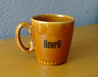 60s Bovril Mug by Lord Nelson Pottery // Collectable Retro Bovril Cup