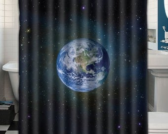 Custom Shower Curtain Earth From Space 047163