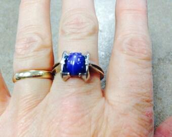 14K White gold Lindy Star Ring
