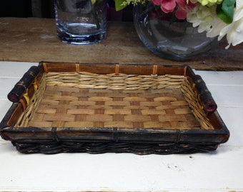 Brown and black Basket Tray