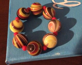 Multi color striped bracelet