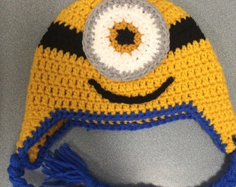 Minion hat with ear flaps