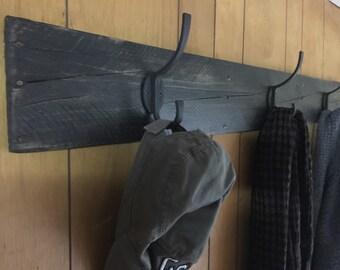 Rustic Hanging Rack, Coat Rack, Hook Rack