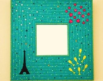 Mosaic-inspired Eiffel Tower mirror