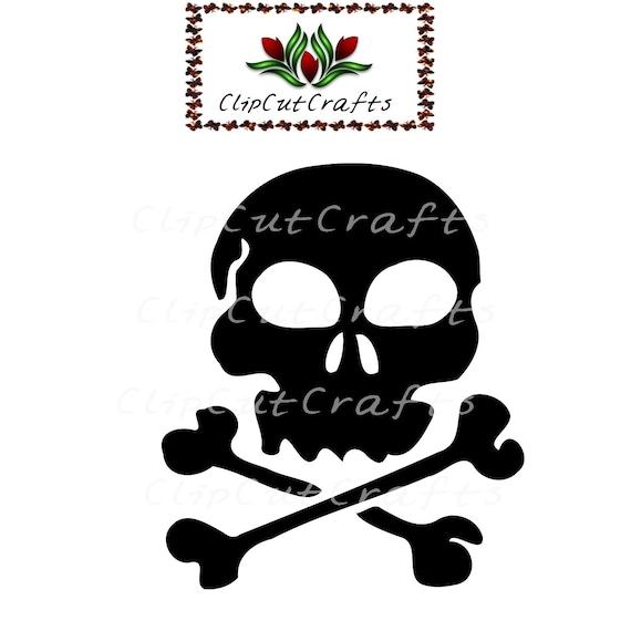 Items similar to Pirate Flag Skull Crossbones Silhouette ...