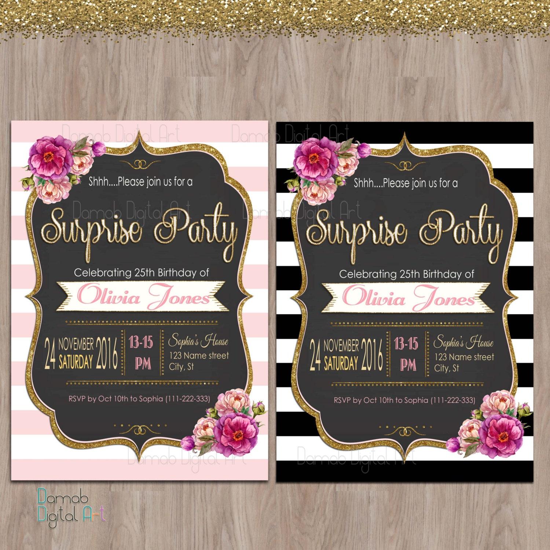 Surprise Birthday Invitation. Surprise Birthday Invites
