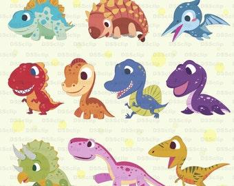 SALE - Limited Time Offer -  Lovely Dinosaur clip art - Buy 2 Get 1 Free!!