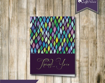 Thank You Card Stained Glass! INSTANT DIGITAL DOWNLOAD