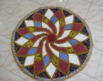 Thai hand woven rag rug decorative