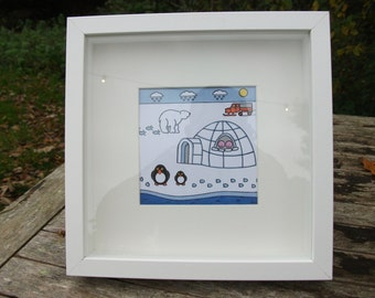 Framed Coldlands picture from Children's Book 'We Can Do Anything!'