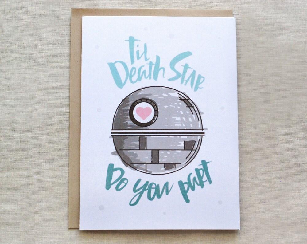 Star Wars Wedding Card Death Star Card Til Death Do You