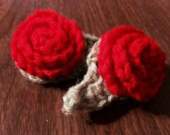 Rosy Posies barrettes