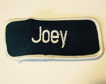 "Vintage ""Joey"" Name Patch"