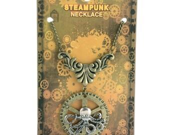 Steam Punk Octopus Necklace