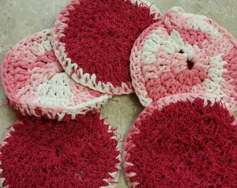 Double sided dish scrubbies